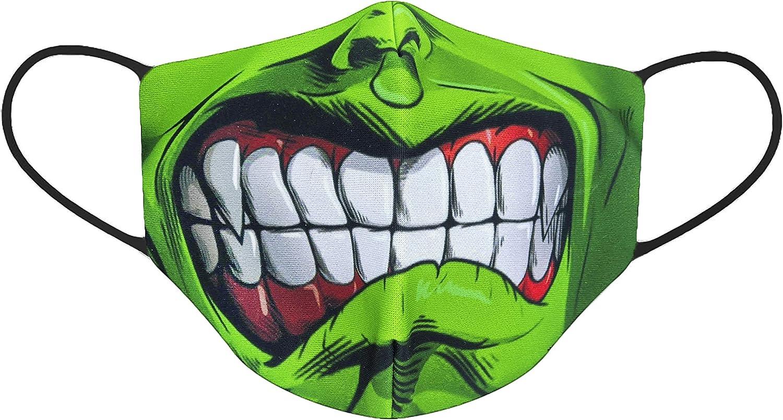 JOVAL - Funda Hulk Bestia lavable multifunción reutilizable. Deportiva y de uso diario. Suave, no pica ni irrita la piel.
