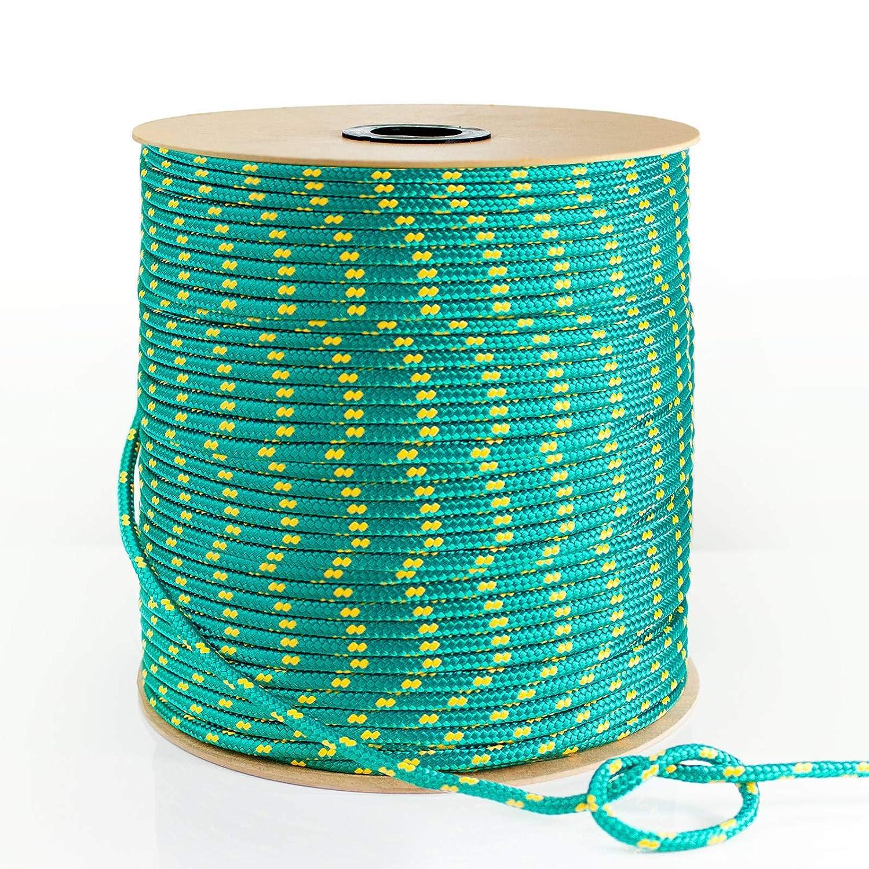 Longitud 10 metros DQ-PP Cuerda de Polipropileno multiusos Verde Grosor 2 mil/ímetros Rollo de Soga 100/% natural Cuerda de Amarre