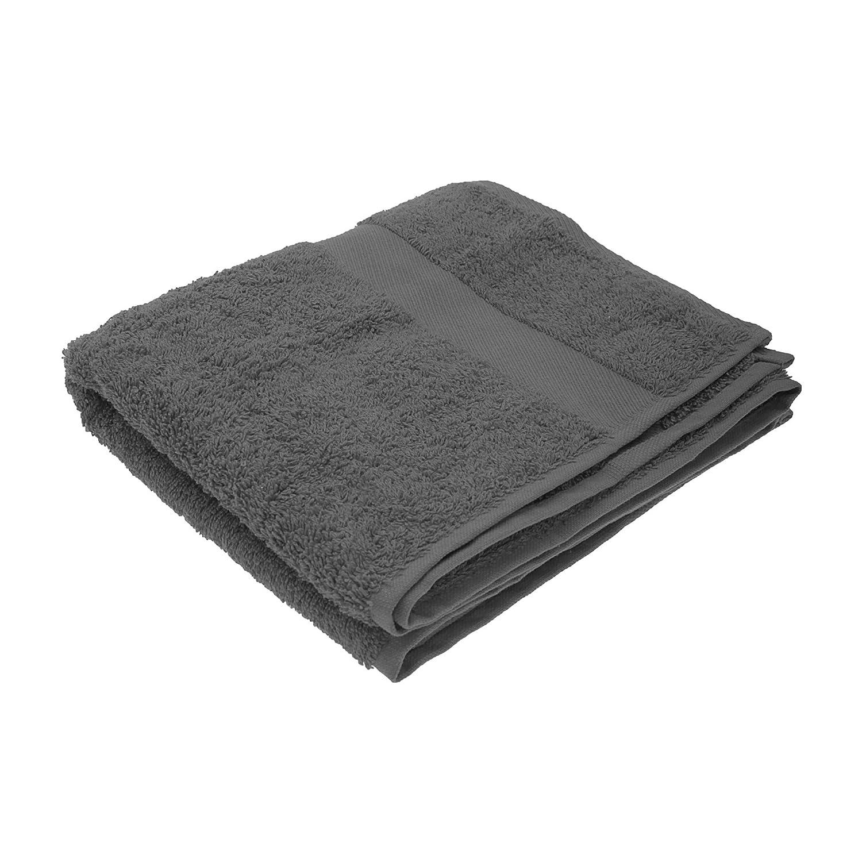 Jassz Premium Heavyweight Plain Towel 50cm x 100cm (550 GSM) (One Size) (Black) UTBC555_1