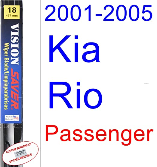 Amazon.com: 2001-2005 Kia Rio Wiper Blade (Driver) (Saver Automotive Products-Vision Saver) (2002,2003,2004): Automotive