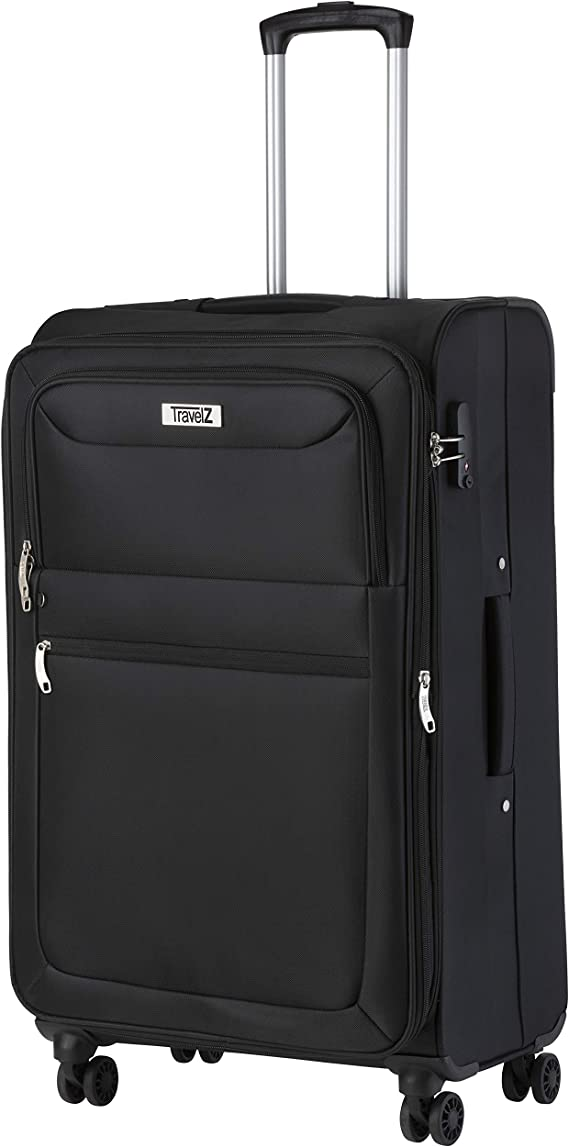 Valise 360 ° roulettes tissu Valise de Voyage Set 3 Tlg. valises Trolley noir