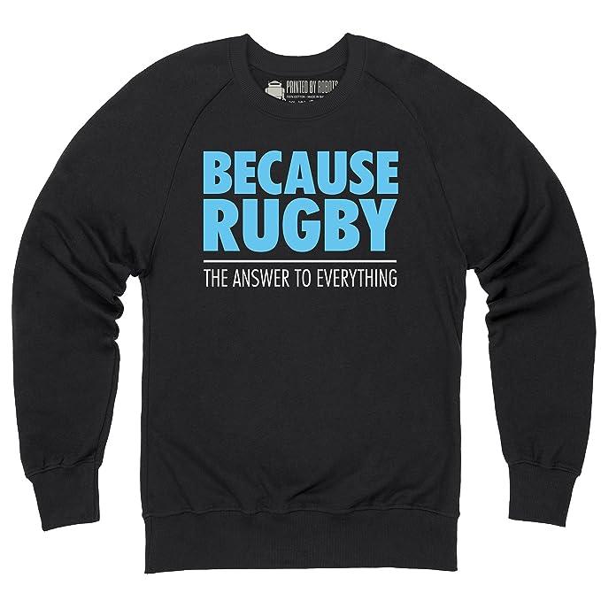 Shotdeadinthehead Because Rugby Sudadera de cuello redondo, Para hombre: Amazon.es: Ropa y accesorios