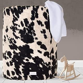 product image for Glenna Jean Large Laundry Basket, Collapsible, Storage Bin, Nursery for Baby Boys & Girls,CowAnimal Print for Boys & Girls,Black/White
