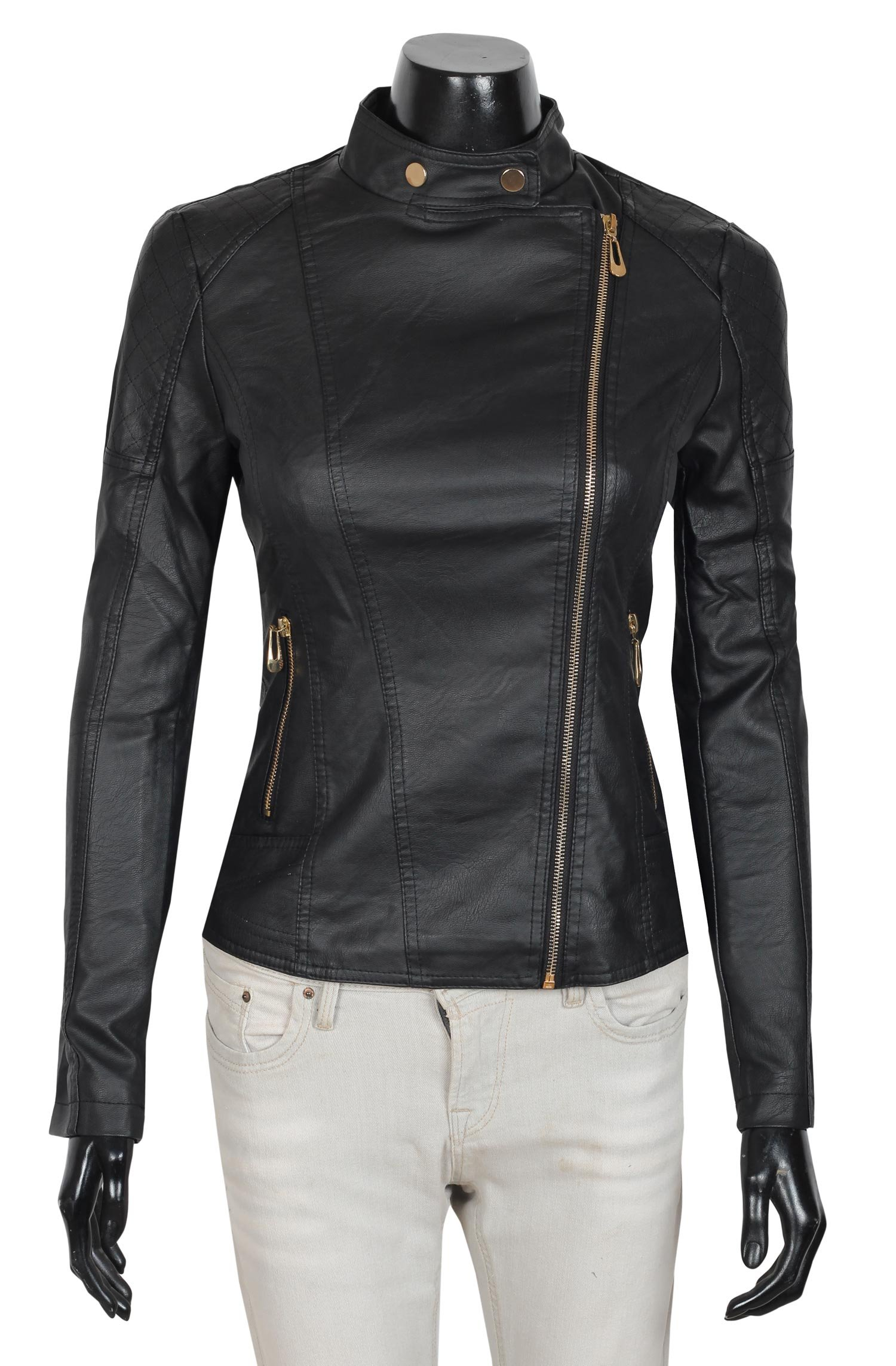 Decrum Womens Leather Jackets Collection | Women Leather Jackets Collection (S, Black - Style 5)