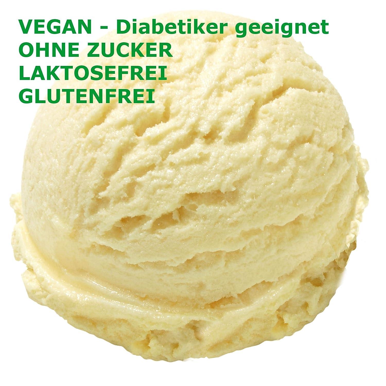 1 kg de helado con helado de frutas Gusto neutro Hielo en polvo VEGANO - AZÚCAR - SIN LACTOSA - SIN GLUTEN - GRASA, incluso para diabéticos Helado de leche ...