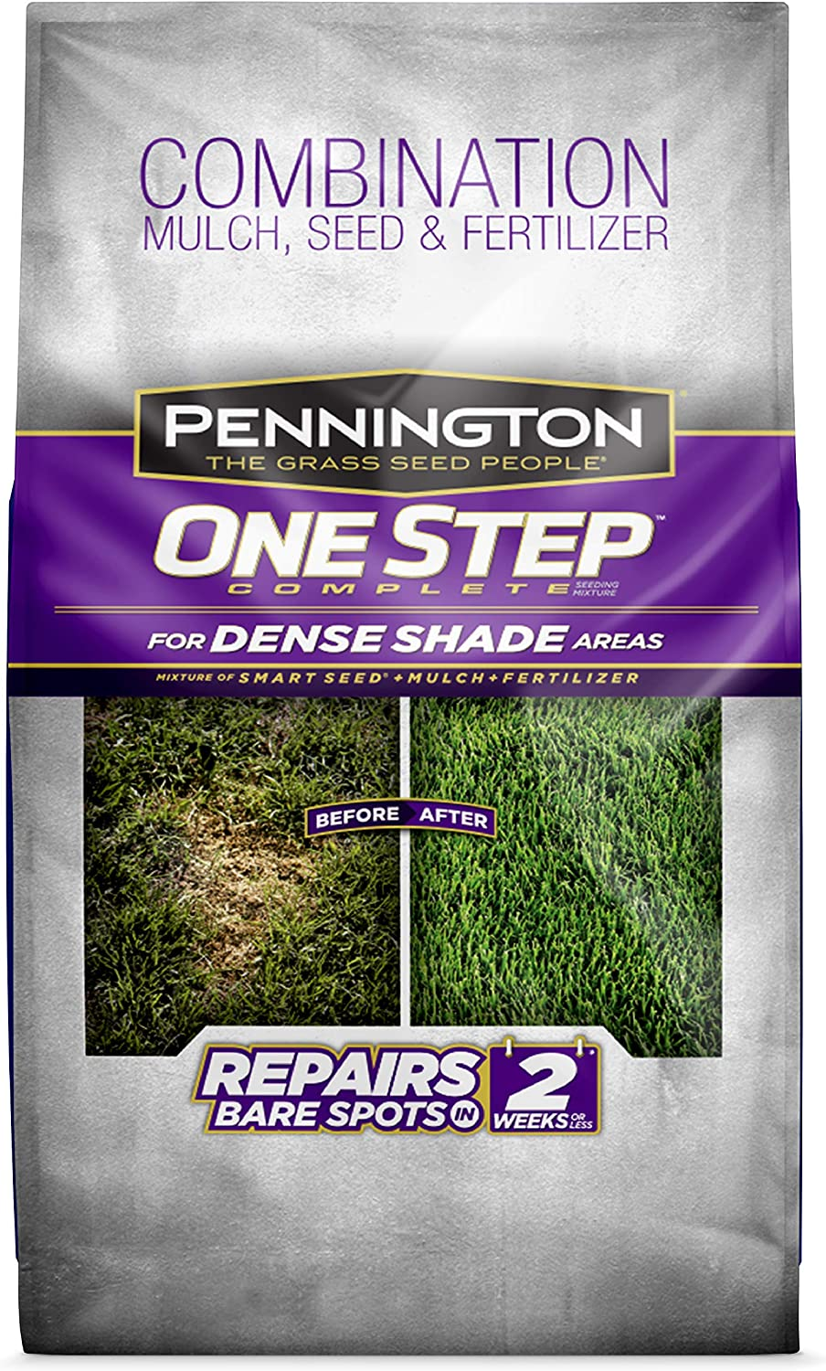 Pennington One Step Complete for Dense Shade Areas - Bare Spot Repair Grass Seed Mix - 8.3 lb