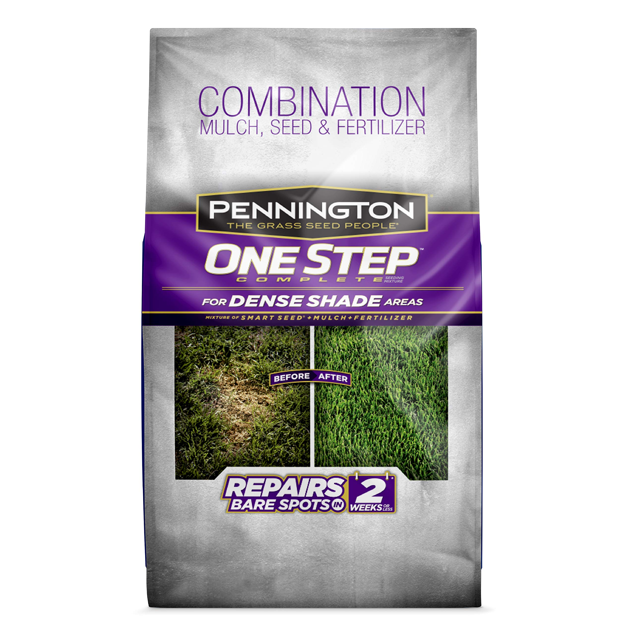 Pennington 100520284 One Step Complete Bare Spot Repair Grass Seed Mix for for Dense Shade Areas, 8.3 lbs by Pennington
