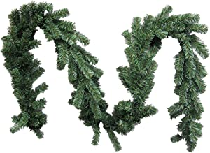 """Admired By Nature GXW9812-NATURAL 180 Tips Canadian Christmas Pine 9 Feet x 10"""" W Garland"""