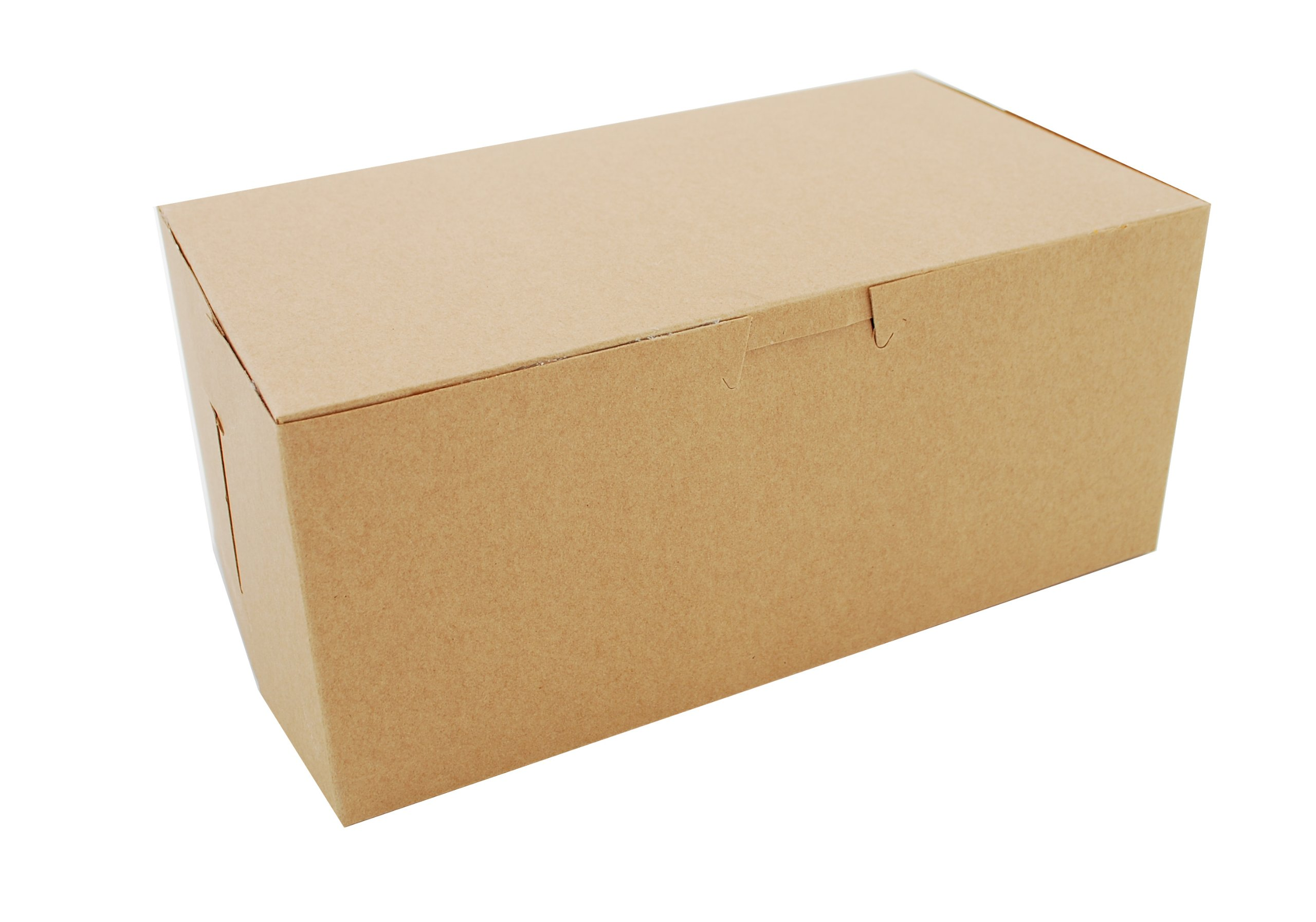 Southern Champion Tray 0949K Kraft Paperboard Non Window Lock Corner Bakery Box, 9'' Length x 5'' Width x 4'' Height (Case of 250)