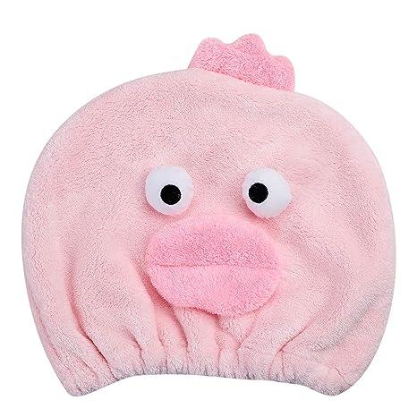 Toalla secador niños niñas sombrero Cheveaux secado turbante microfibra Super absorbente diseño Cartoon Mignon gorro de