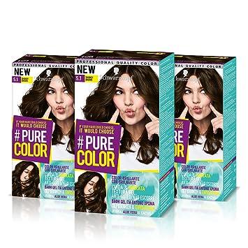 Schwarzkopf Pure Color Permanent Gel Farbe Nr 51 Smokey Braun 3er