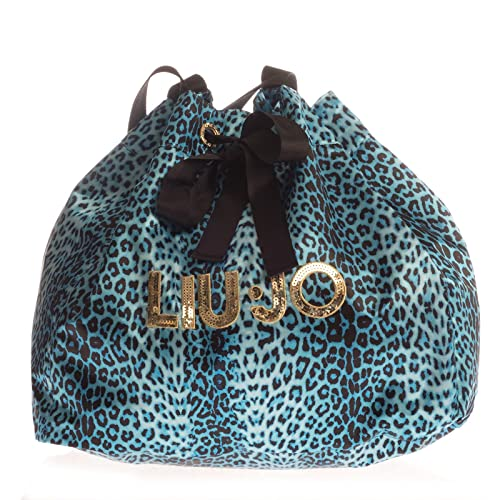 875074fb2c LIU-JO Borsa Mare stampa animalier donna azzurro e nero: Amazon.it ...