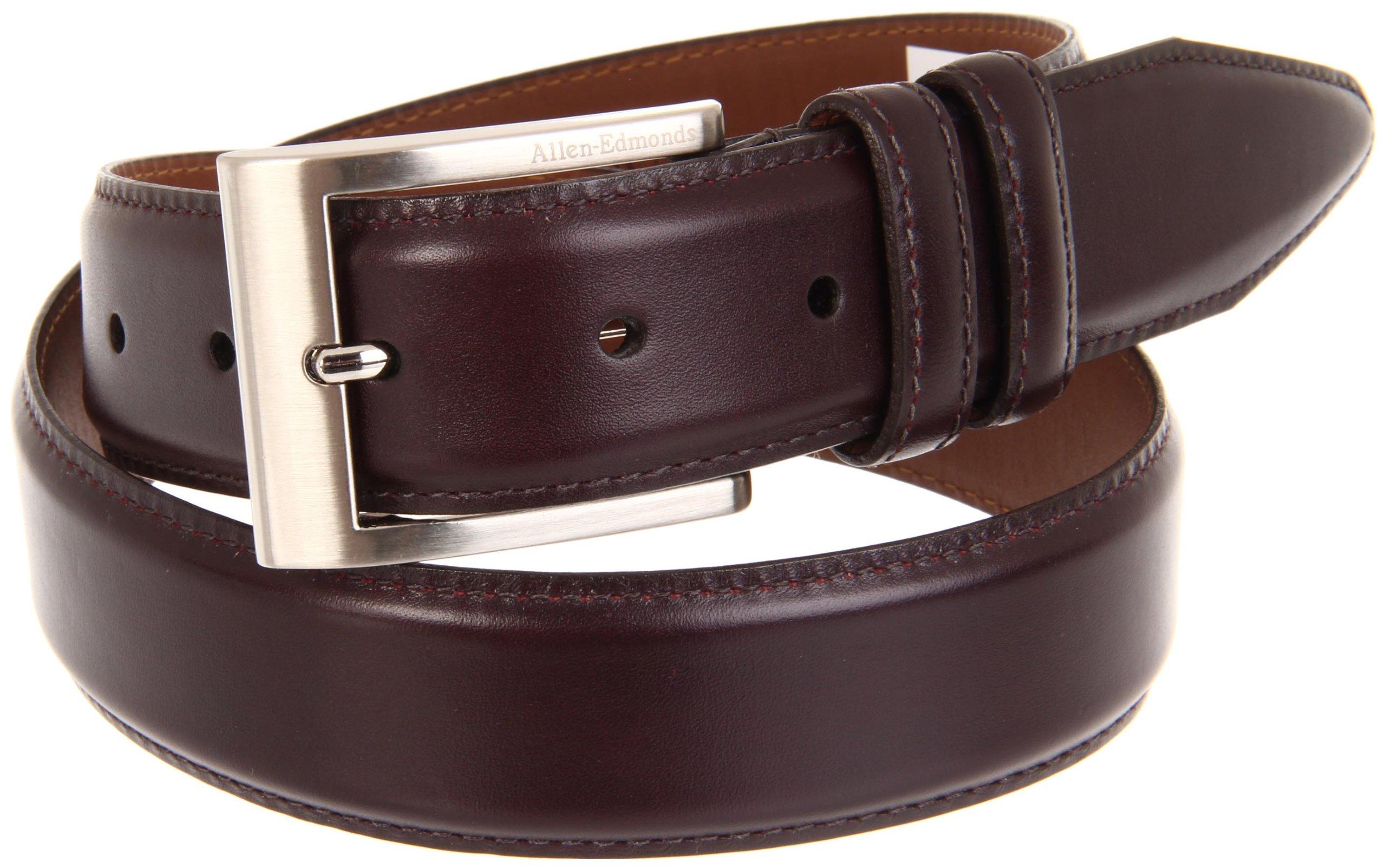 Allen Edmonds Men's Basic Wide Dress Belt,Merlot,38'' Waist