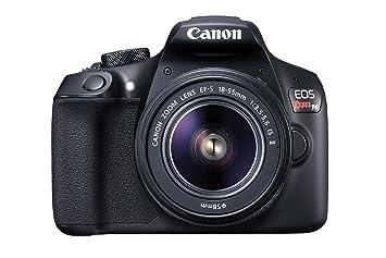 Canon EOS Rebel T6 Digital SLR Camera Kit with EF-S 18-55mm f/3 5-5 6 IS II  Lens (Black)