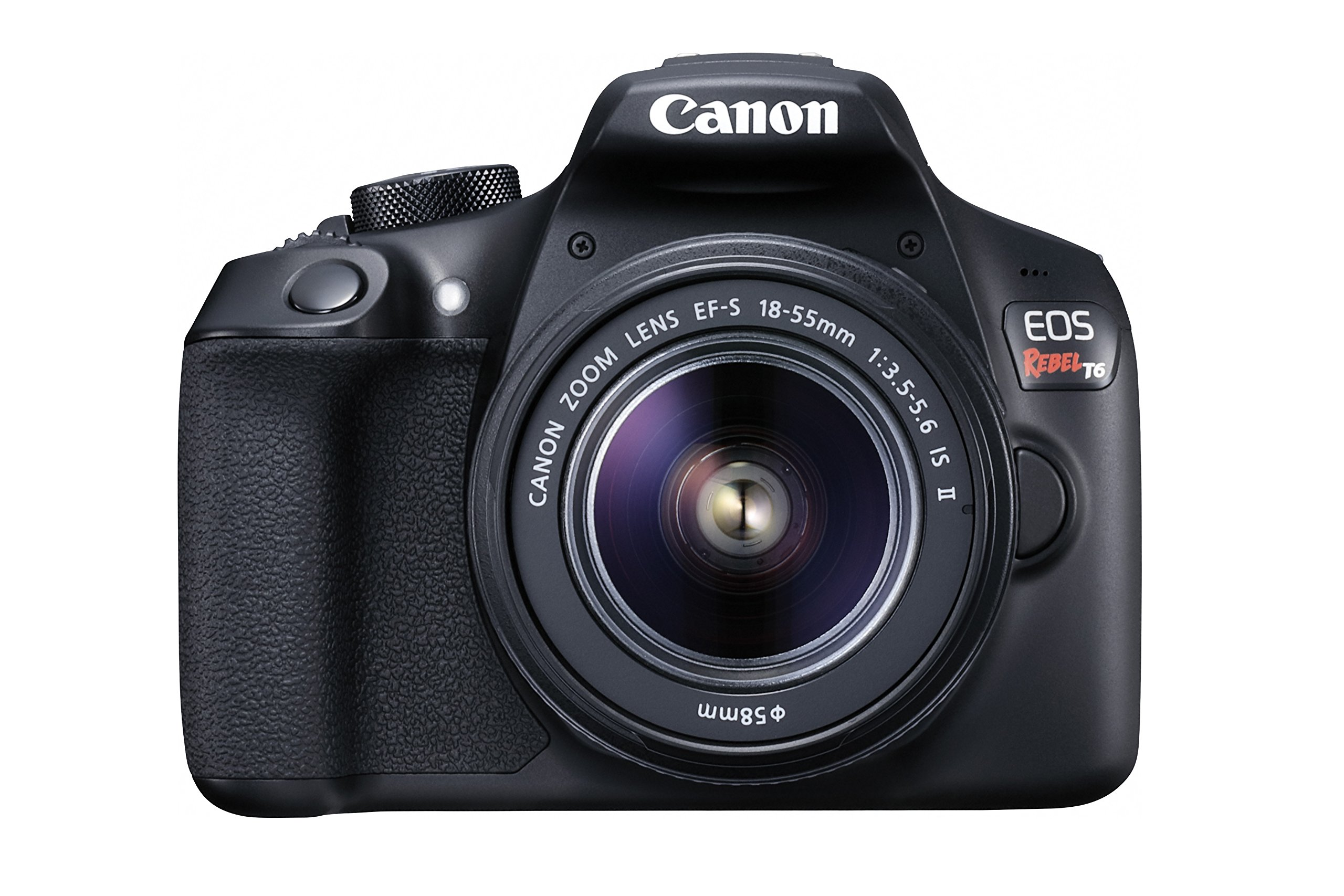Canon EOS Rebel T6 Digital SLR Camera Kit with EF-S 18-55mm f/3.5-5.6 IS II Lens (Black) by Canon