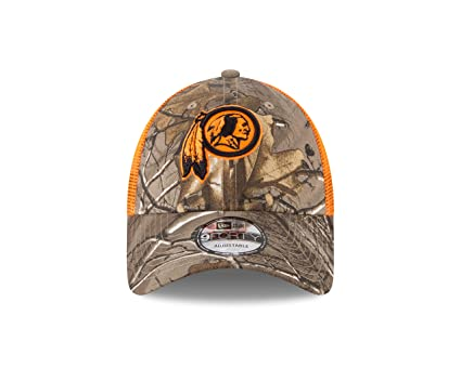 5247664d834c0d Image Unavailable. Image not available for. Color: New Era Washington  Redskins Real Tree Trucker Orange Mesh 9Forty Adjustable hat - Camo