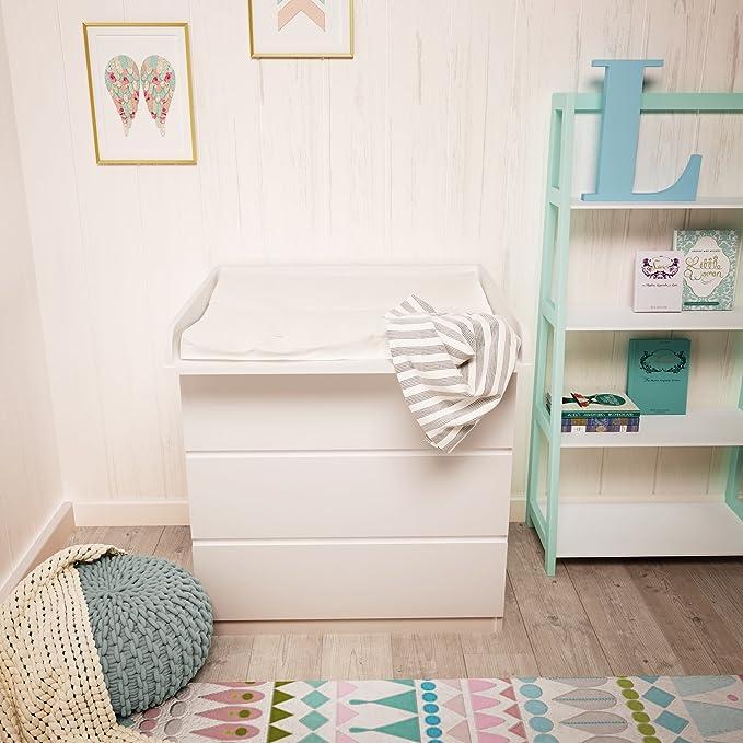 Polini Kids cambiador ufsatz cambiador accesorio para cómoda Malm IKEA de madera en diferentes colores (Color Blanco): Amazon.es: Bebé