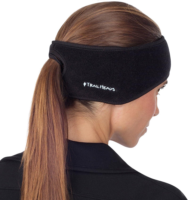 TrailHeads Women's Ponytail Headband – Black/Black: Sports & Outdoors
