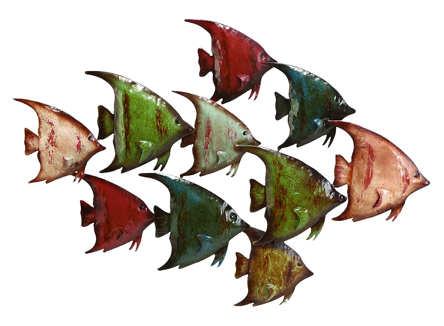 Amazon deco 79 63533 metal fish wall decor home kitchen amipublicfo Gallery