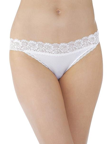 ace5c157e227 Vanity Fair Women's Flattering Lace Bikini Panty 18280, Aol White, ...