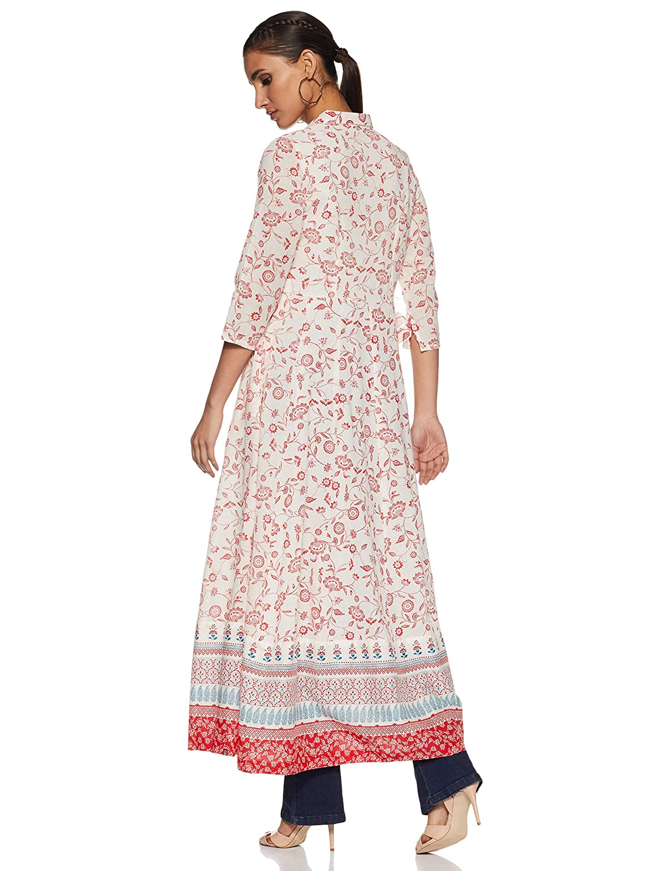 9b807d8a6 BIBA Women s Cotton Anarkali Kurta  Amazon.in  Clothing   Accessories
