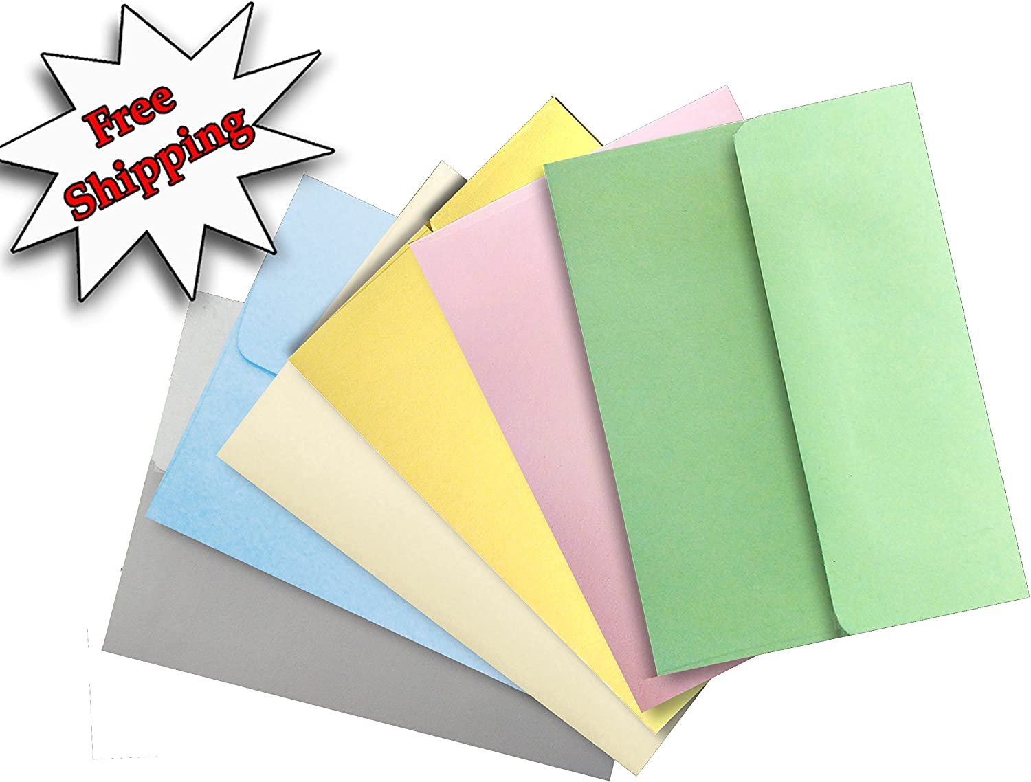 Shipped Free Pastel Color Selection 50 Boxed A2 4-3//8 x 5-3//4 Envelopes for Enclosures Cards Invitations Announcements from The Envelope Gallery
