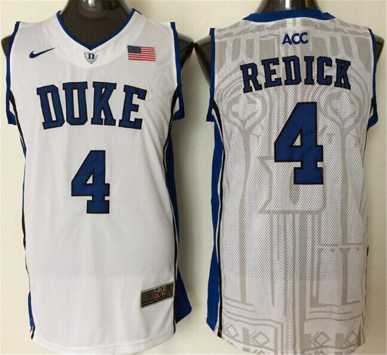 4b3cdebfd9f Duke Blue Devils 4 J.J. Redick White Basketball College Jersey Size ...