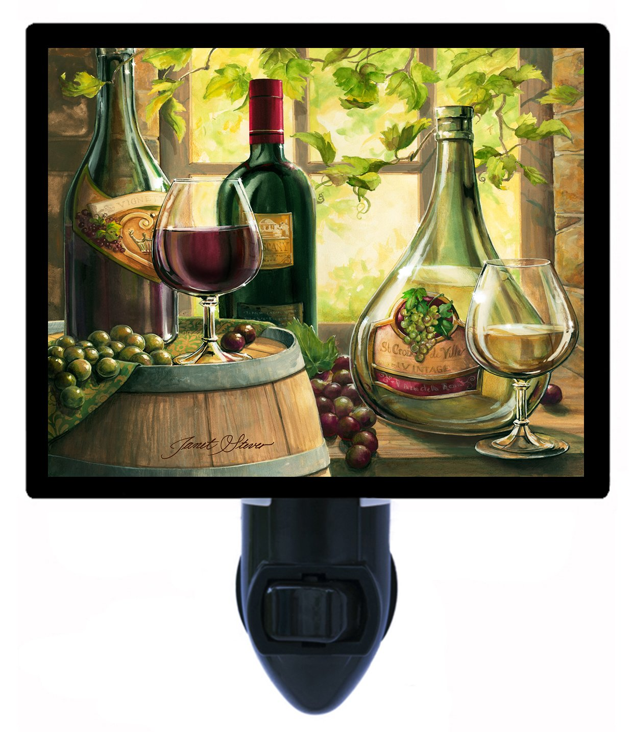 Night Light - Wine by the Window - Bottles and Grapes - Kitchen