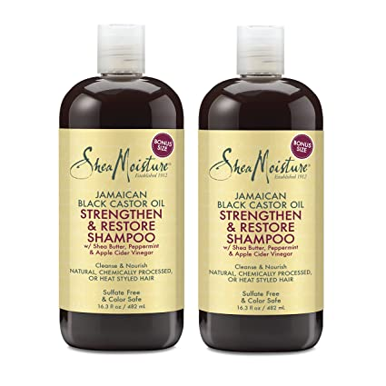 Shea Moisture Jamaican Black Castor Oil Strengthen, Grow & Restore Shampoo 16.3oz (2