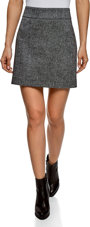 oodji Ultra Mujer Falda B/ásica de Punto
