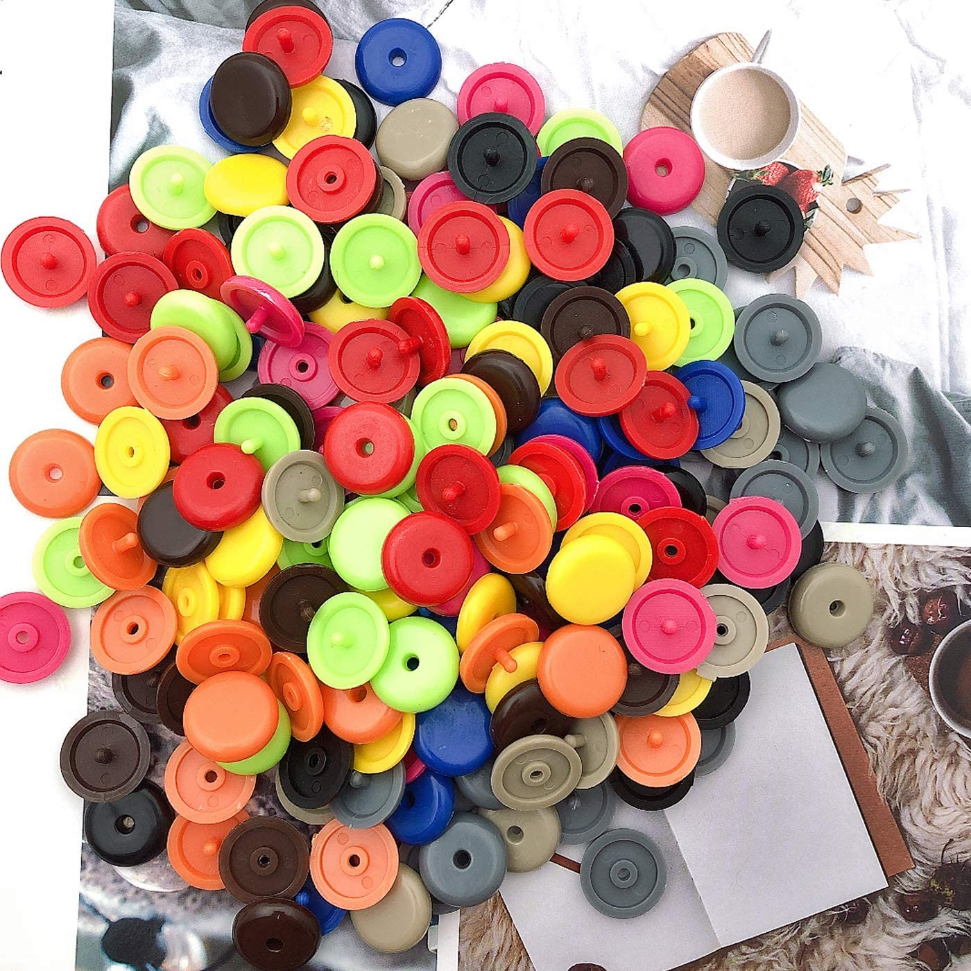 100 Sets Luckkyme Button Buckle Clip Stop The Belt Plastic Seat-Belt Stopper Clips Snap-On System No Welding Required