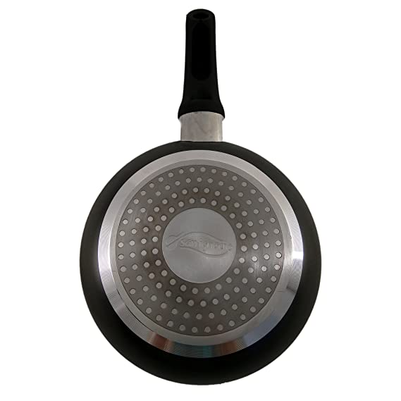 San Ignacio SARTEN Apta para INDUCCION 28cm Soft Touch Tempo, Aluminio, Negro, 28 cm