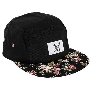 Blackskies Black Beauty 5-Panel Cap Sombrero Rosas Negro Flores Unisex Gorras de Béisbol: Amazon.es: Ropa y accesorios