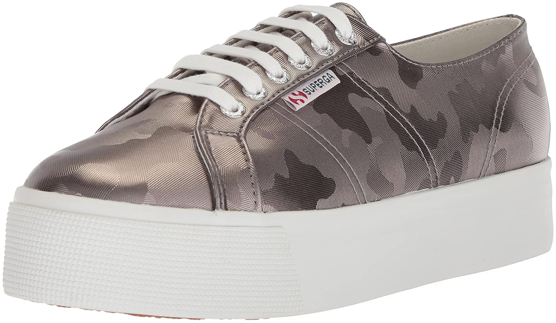 Superga Women's 2790 Armychromw Sneaker B07753RWVW 37.5 M EU (7 US)|Grey