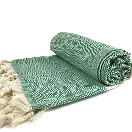 Turco toalla XL 100 algodón hammam Peshtemal Yoga Pestemal Fouta toalla Naturaleza Verde