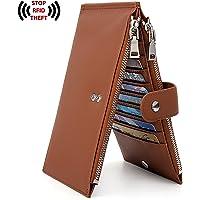 UTO RFID Wallet for Women PU Leather Blocking Tech 19 Card Case Money Organizer Phone Zipper Pocket CA