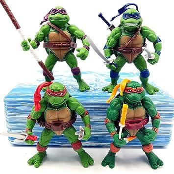 ONOGAL Las Tortugas Ninja mutantes lote de figuras ...