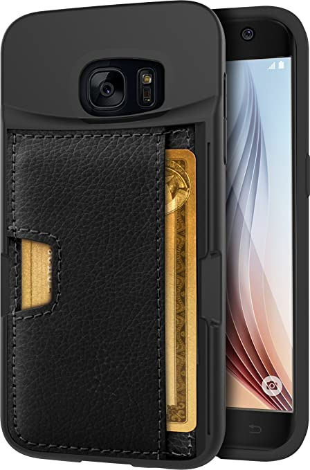 more photos 99857 e5a27 Silk Galaxy S7 Wallet Case - Q Card CASE [Samsung Slim Protective Kickstand  CM4 Grip Cover] - Wallet Slayer Vol.2 - Black Onyx