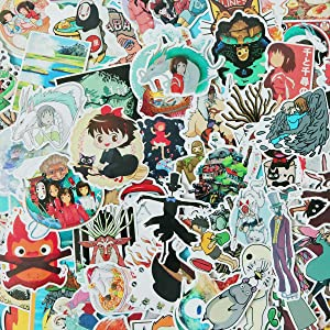 100 PCS Cartoon Japan Miyazaki Hayao Anime Waterproof Stickers Car Laptop Helmet Luggage Vintage Skateboard Wall Decor Gift for Kids (Japan Anime)