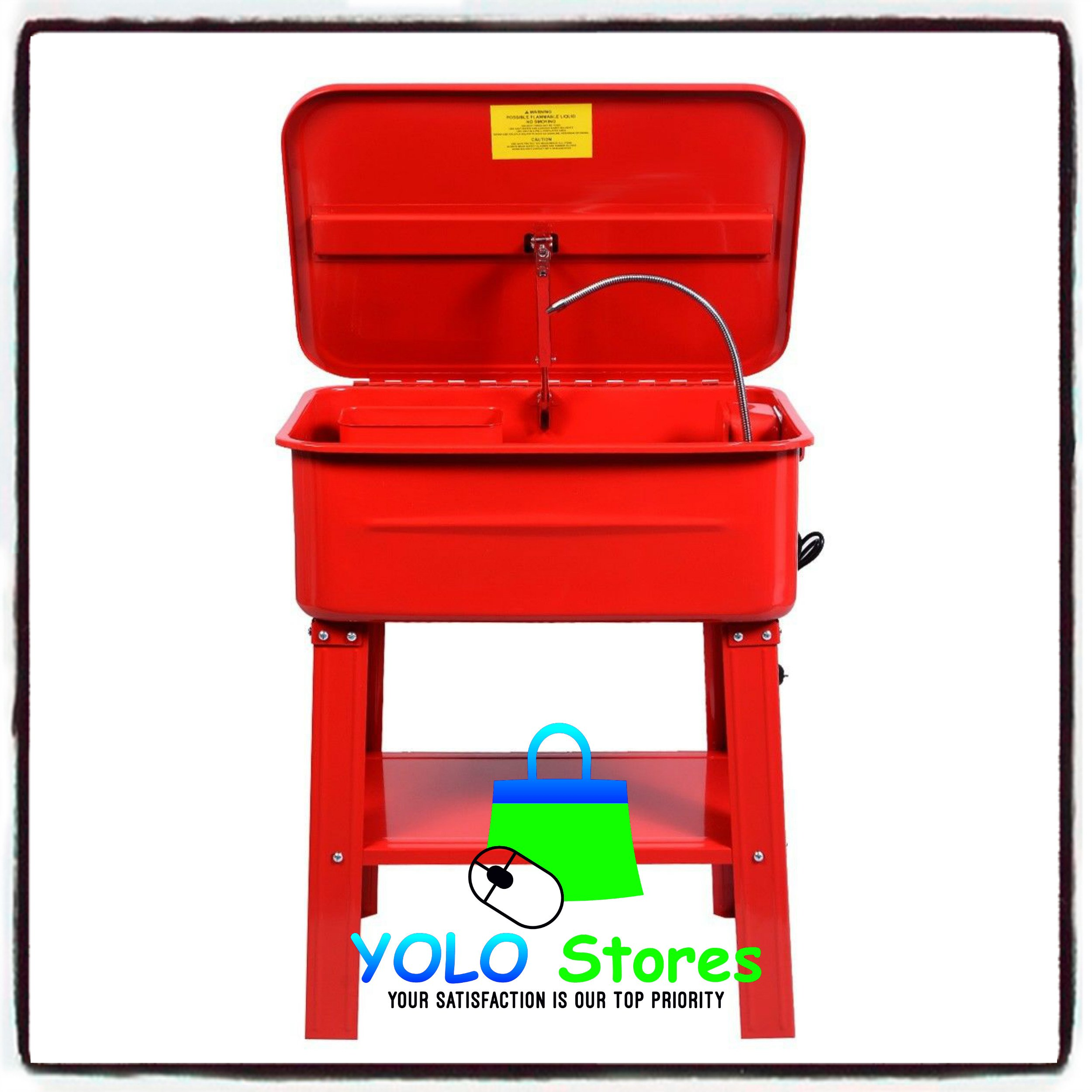 Automotive Parts Washer Cleaner Heavy Duty Electric Solvent Pump 20 Gallon Auto Tools By YOLO Stores by YOLO Stores (Image #3)