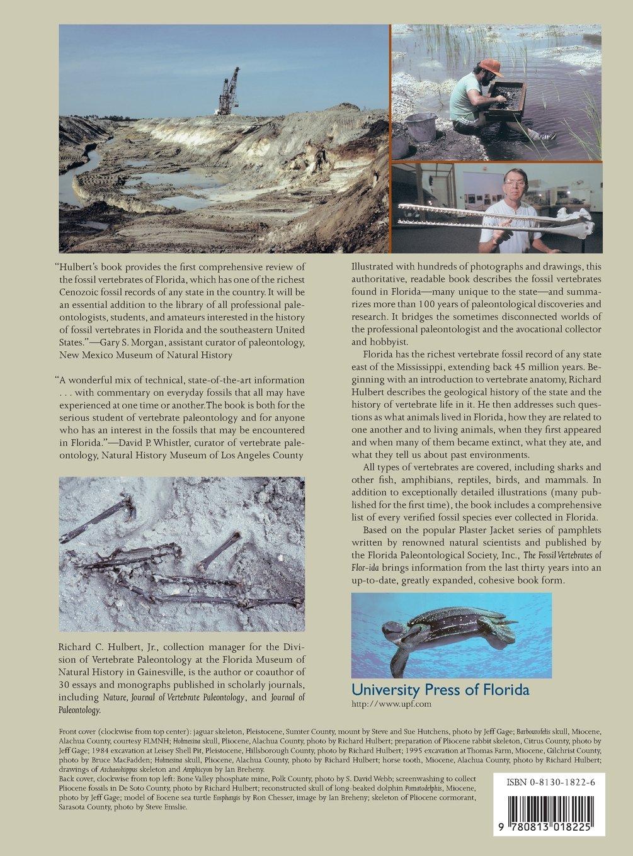 The fossil vertebrates of florida richard c hulbert jr roger portell 9780813018225 amazon com books