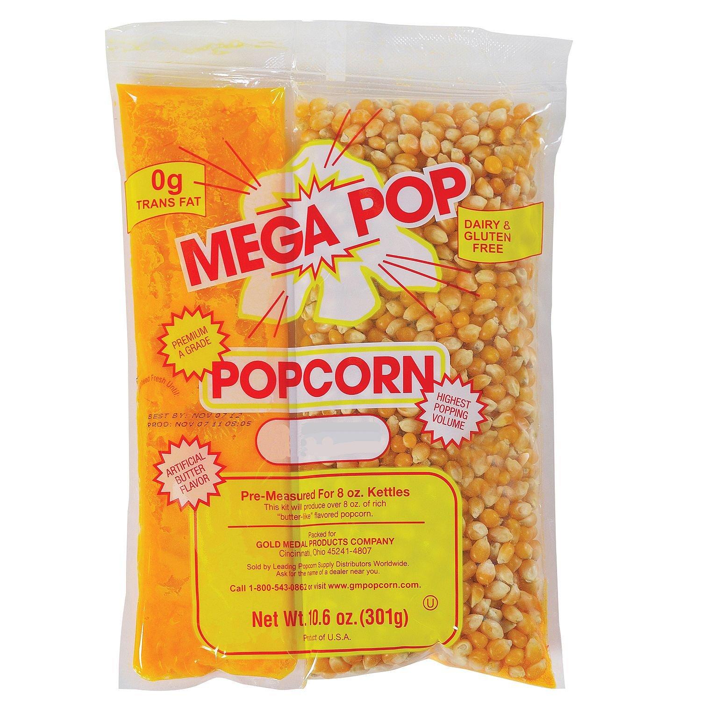 Gold Medal Mega Pop Popcorn Kit (8 oz. kit, 24 ct.). - (Popcorn Kernels & Flavorings) by Mega-pop