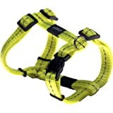 Rogz Utility Small 3/8-Inch Reflective Nitelife Adjustable Dog H-Harness