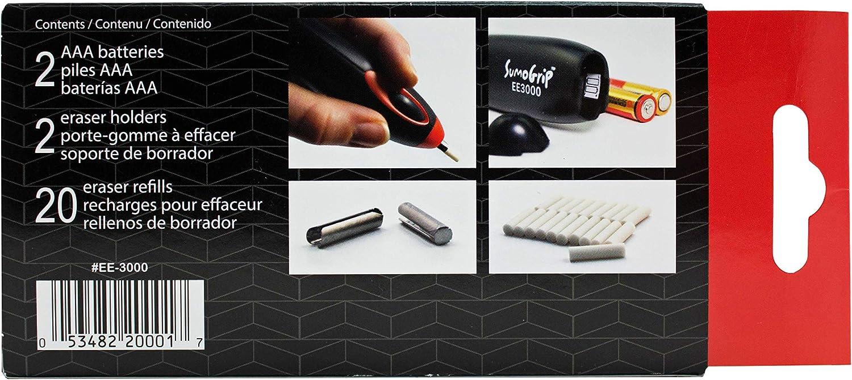 Battery Operated Black EE-3000 Sakura Sumo-Grip Eraser with 20 White Vinyl Erasers