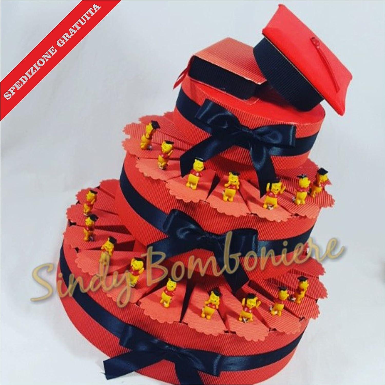 Bomboniere für Abschlussfeier Winnie the Pooh Reifeprüfung Unterstützung Kuchen Versand inklusive Torta da 35 fette