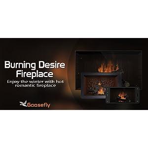 deseo de quemar la chimenea gratis: disfrute de las vacaciones de Navidad de invierno con una cálida chimenea en su televisor hdr 8k 4k y dispositivos de fuego como fondo de pantalla