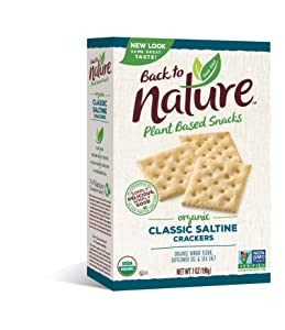 Back to Nature Crackers, Classic Organic Saltines, 7 Ounce