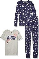 Spotted Zebra by Star Wars - Boys' Toddler & Kids 3-Piece Snug-fit Cotton Pajama Set