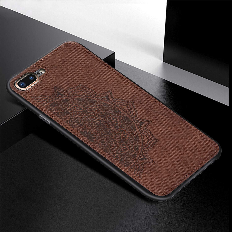 DAMONDY iPhone 8 Plus Case iPhone 7 Plus,3D Pattern Mandala Flower Design Shock with Hand Strip Slim Hard Shell Back Skin Soft TPU Rubber Bumper Armor Built-in Magnetic Metal Plate Case-Grey