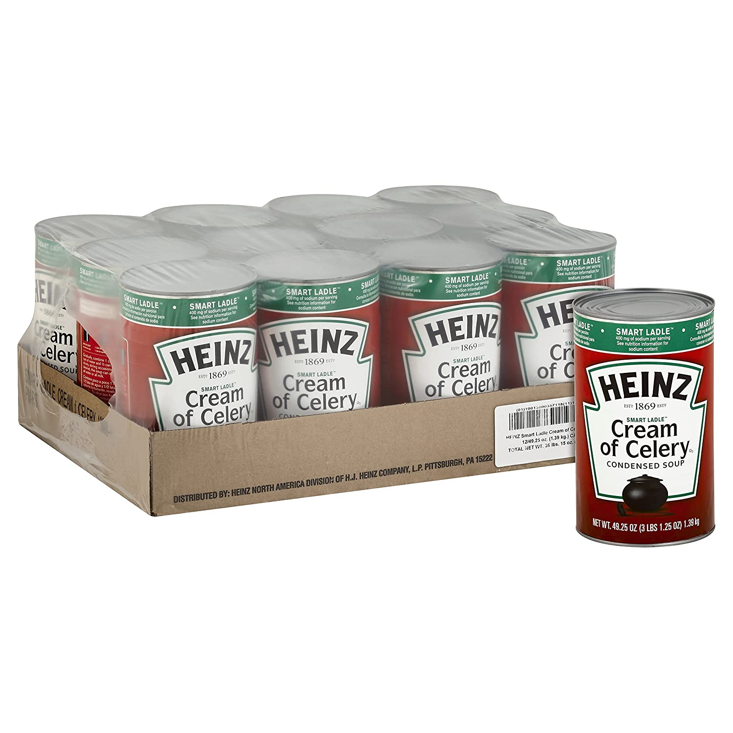 Amazon.com : Heinz Reduced Sodium Soup Can, Cream of Mushroom, 49.5 Ounce (Pack of 12) : Grocery & Gourmet Food